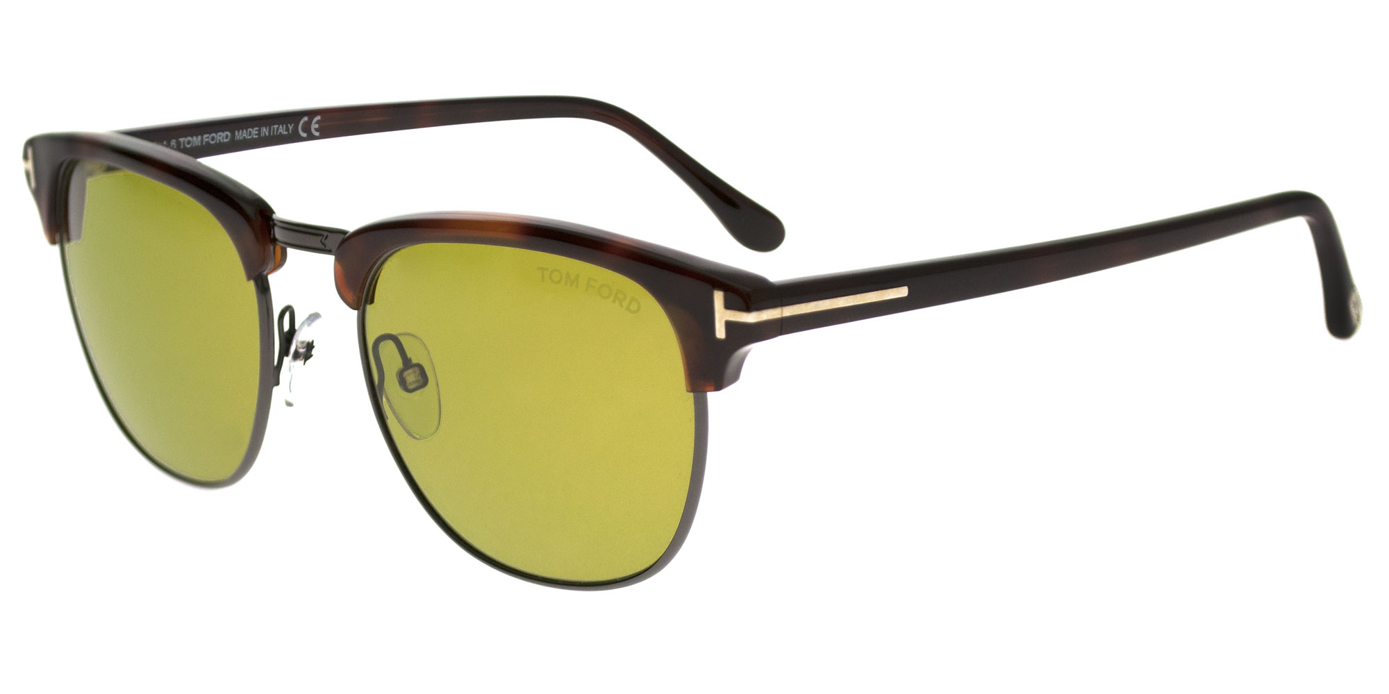 10aacc14df Details about Tom Ford HENRY FT 0248 DARK HAVANA GREEN men AUTHENTIC  Sunglasses